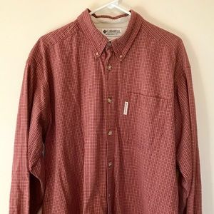 Men's Columbia Red Checkered Button Down - Size XL
